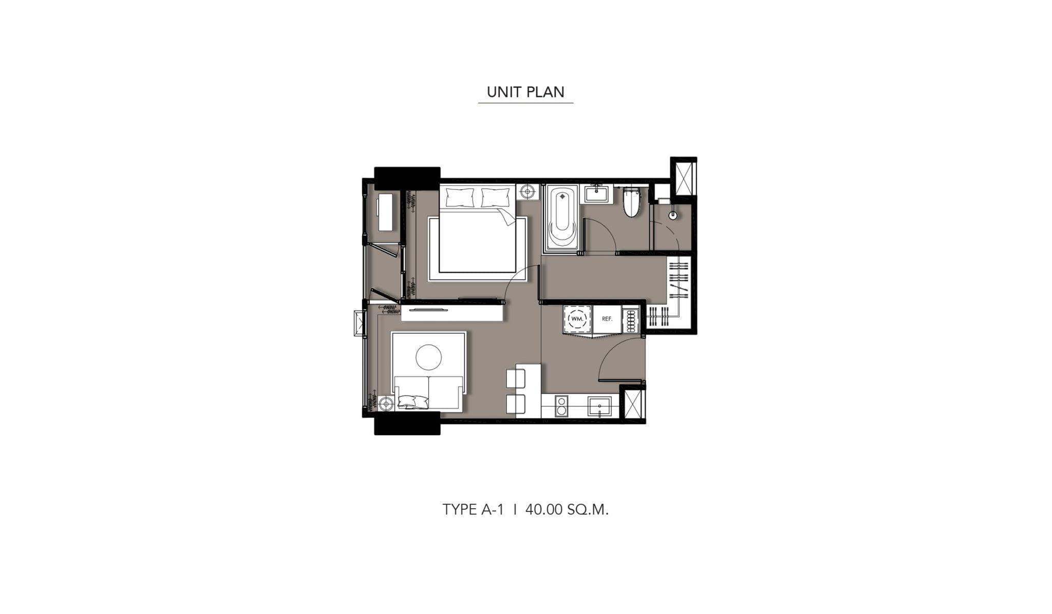 HYDE-Heritage-Thonglor-Floor Plan Type A-1