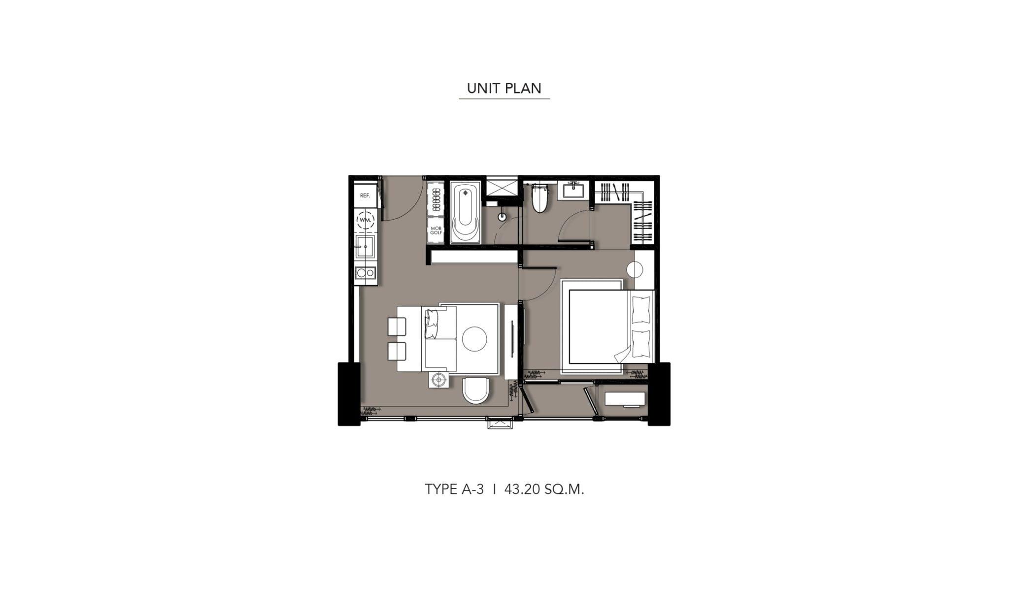 HYDE-Heritage-Thonglor-Floor Plan Type A-3