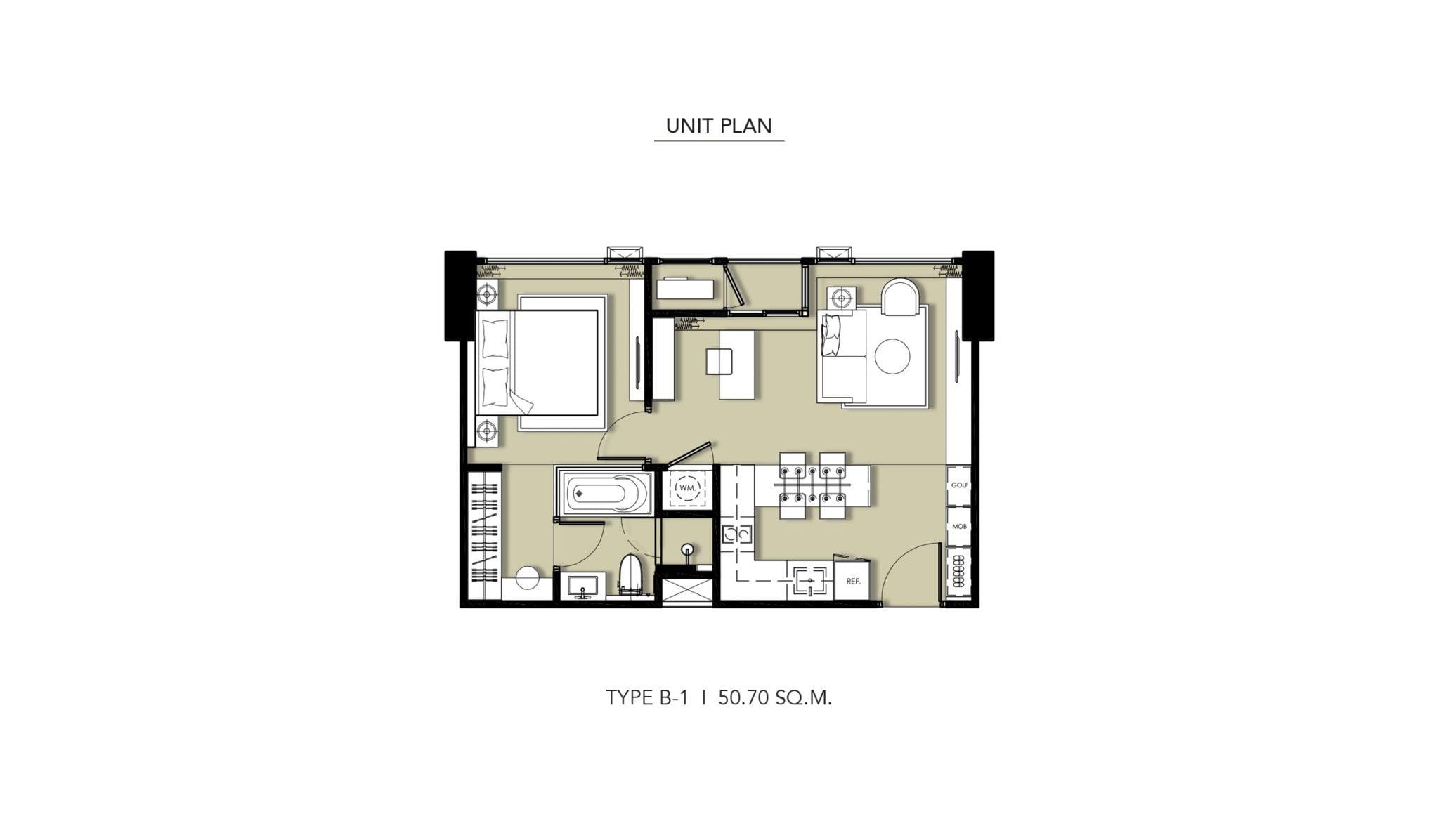 HYDE-Heritage-Thonglor-Floor Plan Type B-1