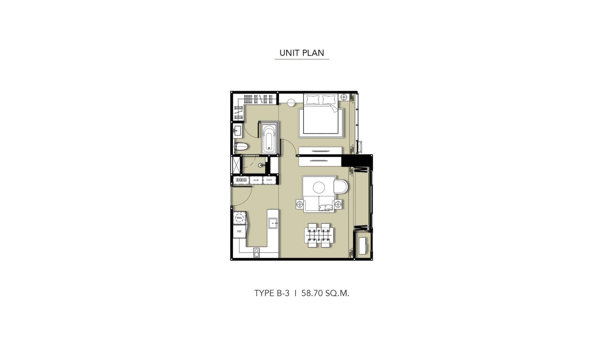 HYDE-Heritage-Thonglor-Floor Plan Type B-3