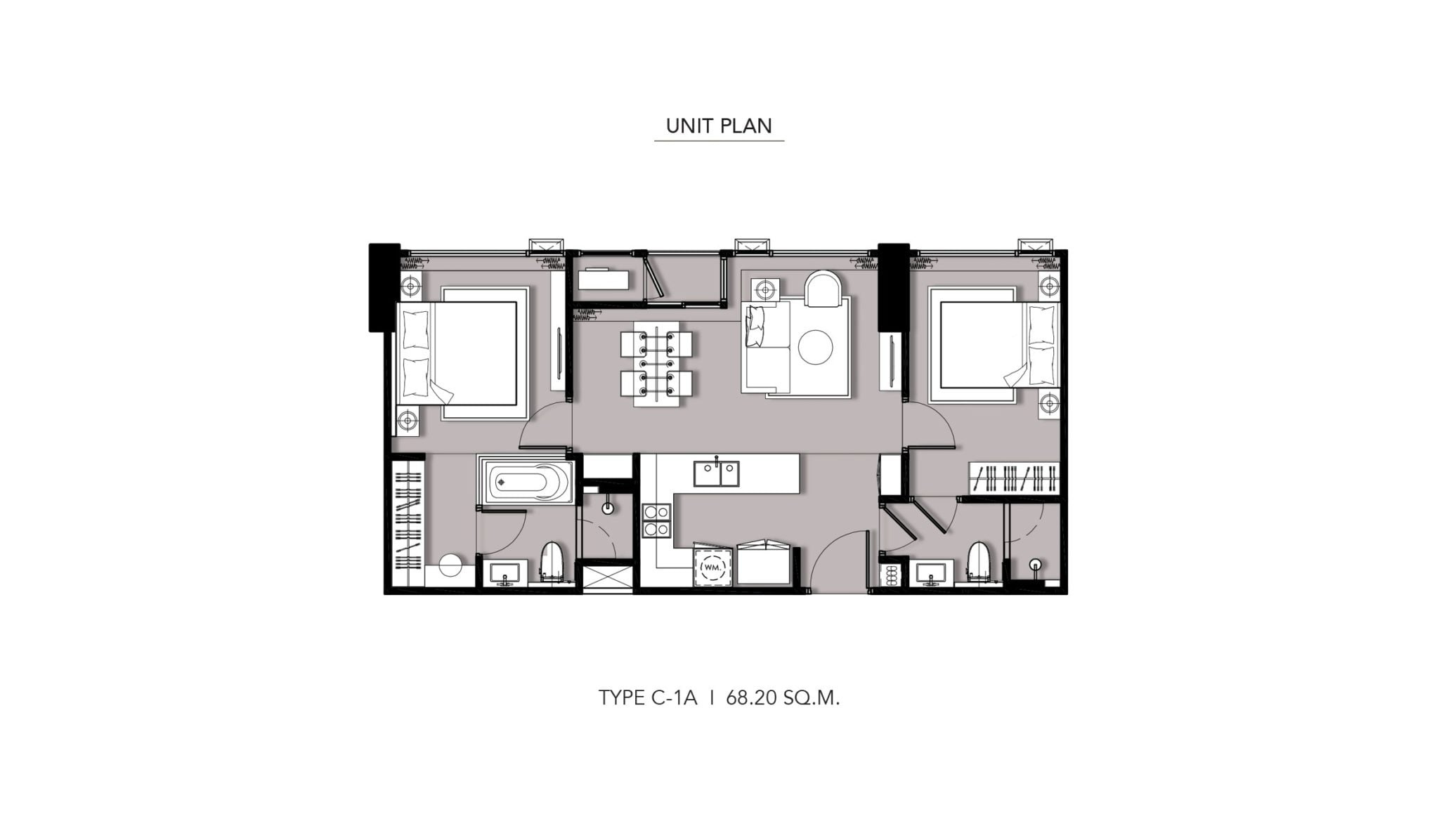 HYDE-Heritage-Thonglor-Floor Plan Type C-1A
