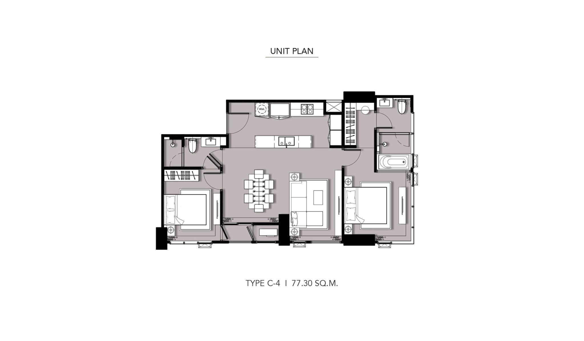 HYDE-Heritage-Thonglor-Floor Plan Type C-4
