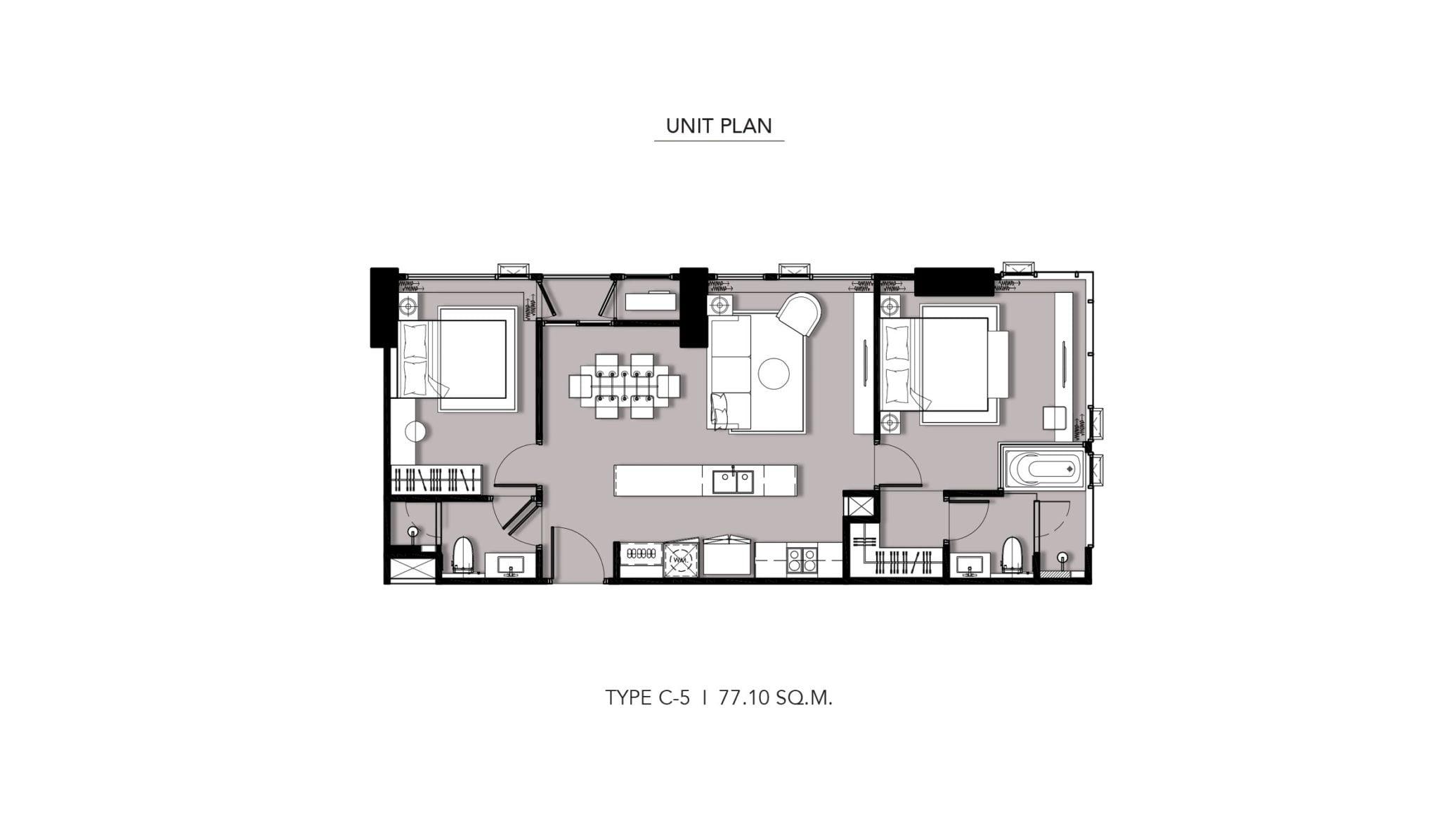 HYDE-Heritage-Thonglor-Floor Plan Type C-5