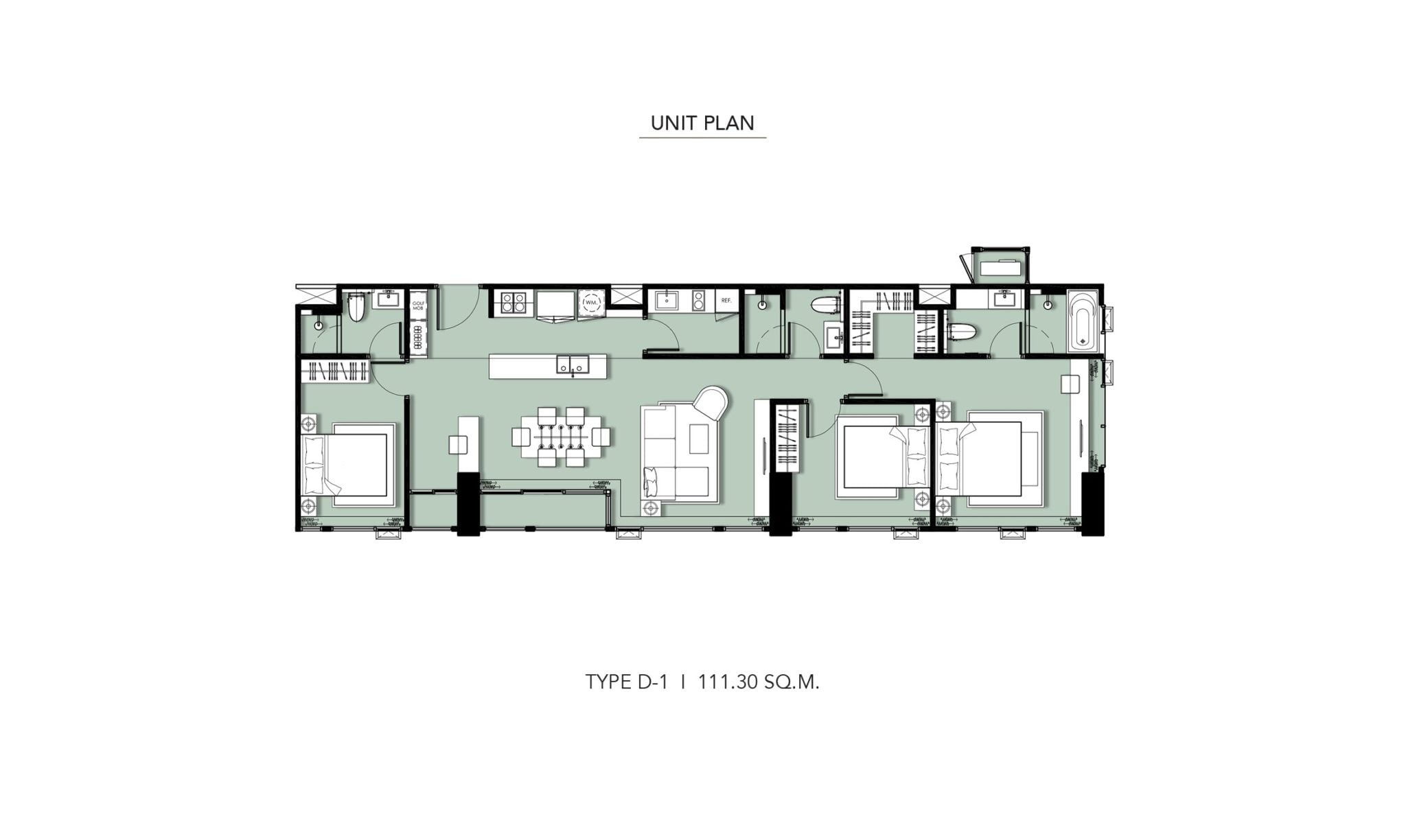 HYDE-Heritage-Thonglor-Floor Plan Type D-1