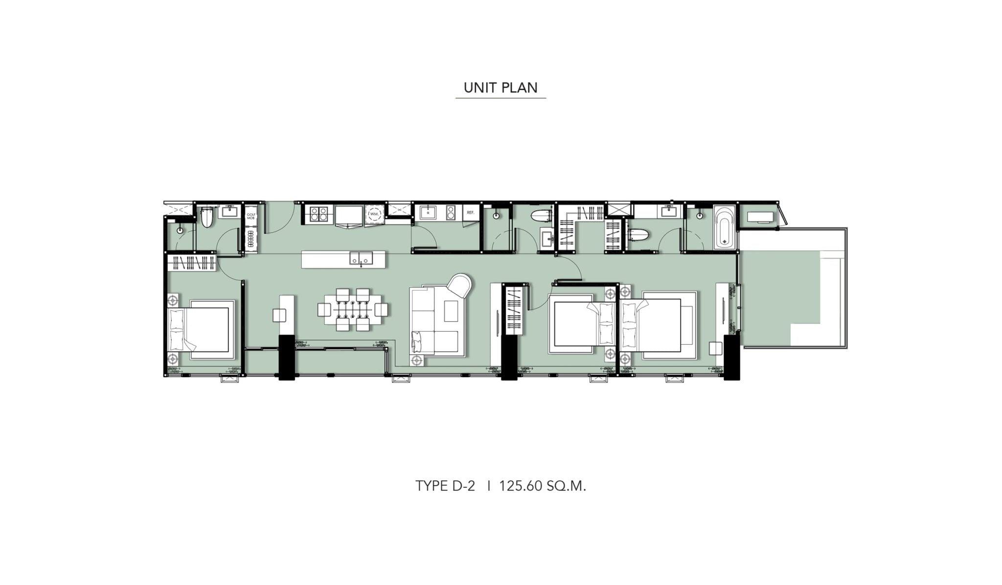 HYDE-Heritage-Thonglor-Floor Plan Type D-2