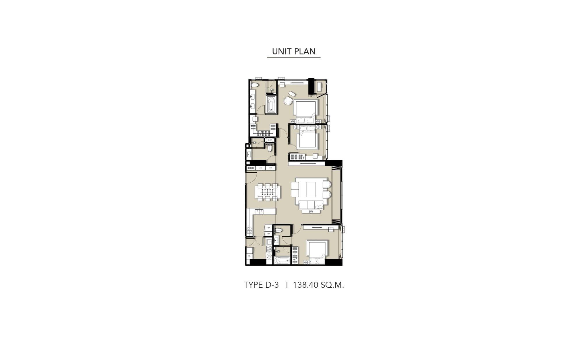 HYDE-Heritage-Thonglor-Floor Plan Type D-3