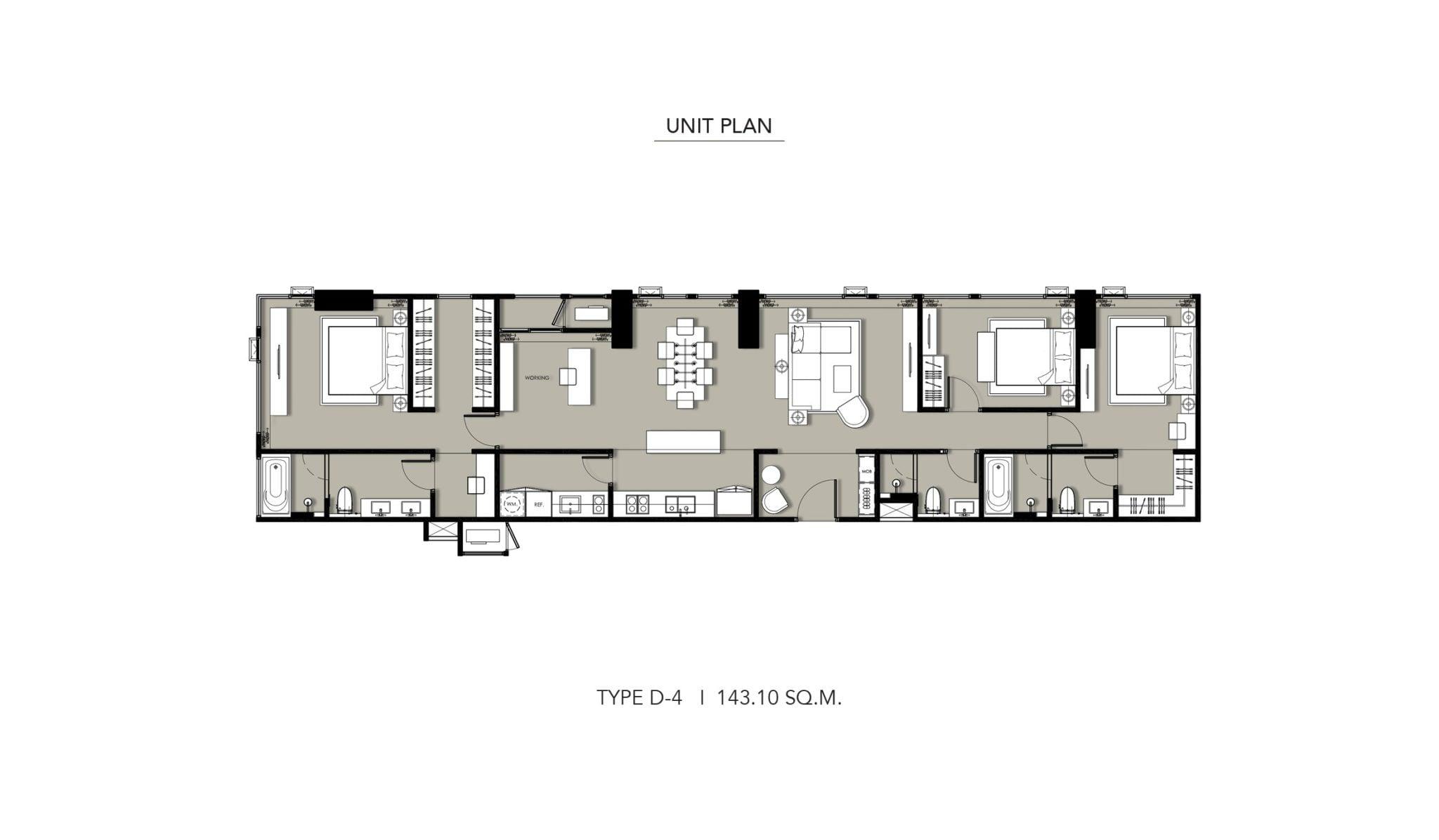 HYDE-Heritage-Thonglor-Floor Plan Type D-4