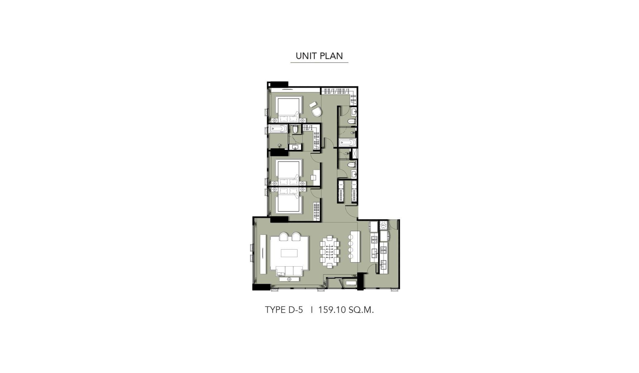 HYDE-Heritage-Thonglor-Floor Plan Type D-5