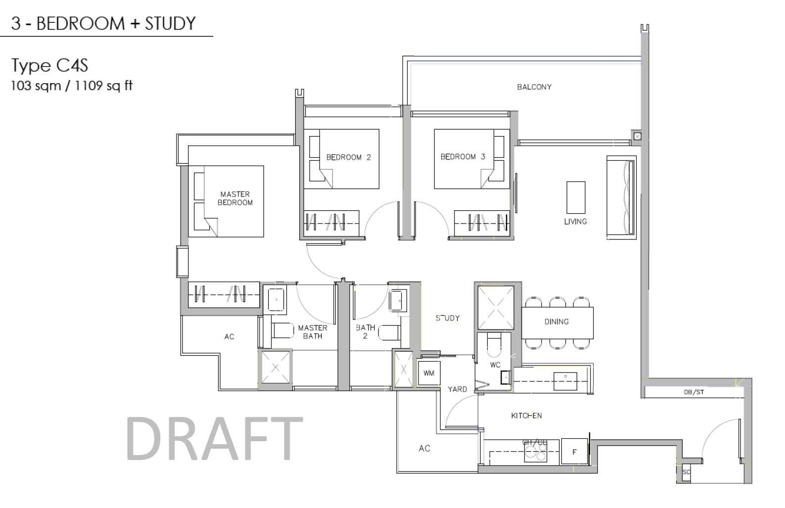 Juniper-Hill-Floor-Plan-3BR + Study