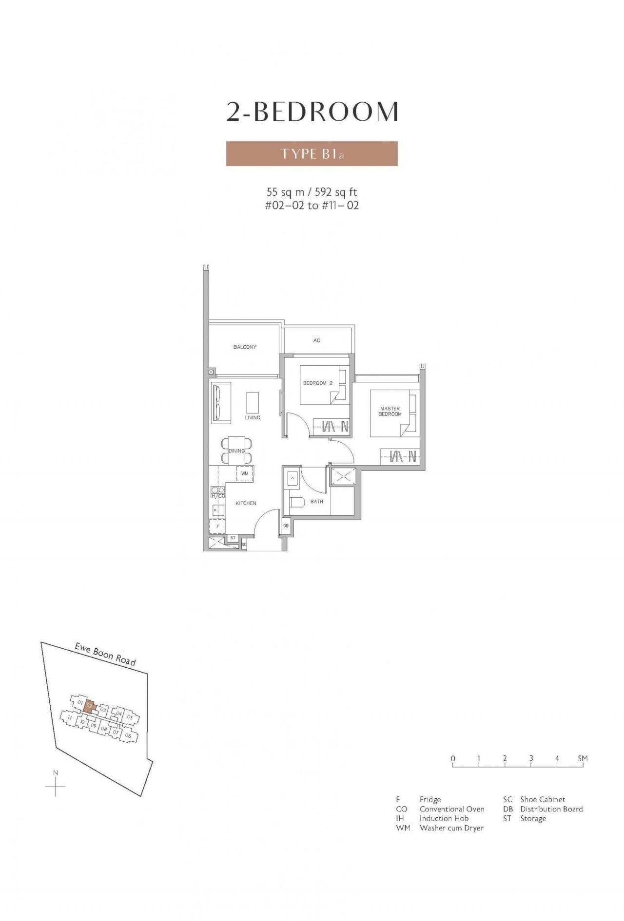 Juniper-Hill-floor plan 2BR