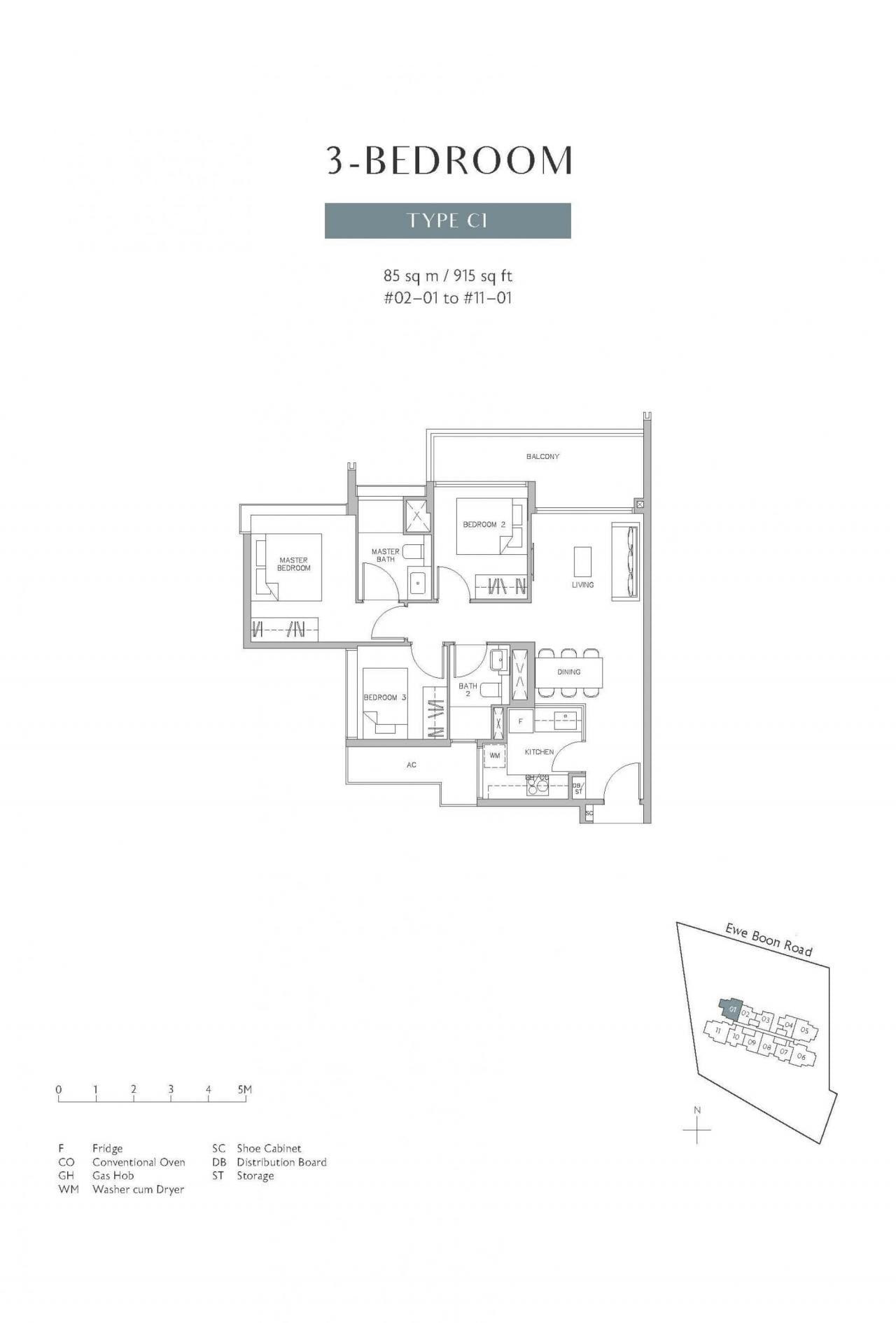 Juniper-Hill-floor plan 3BR C1