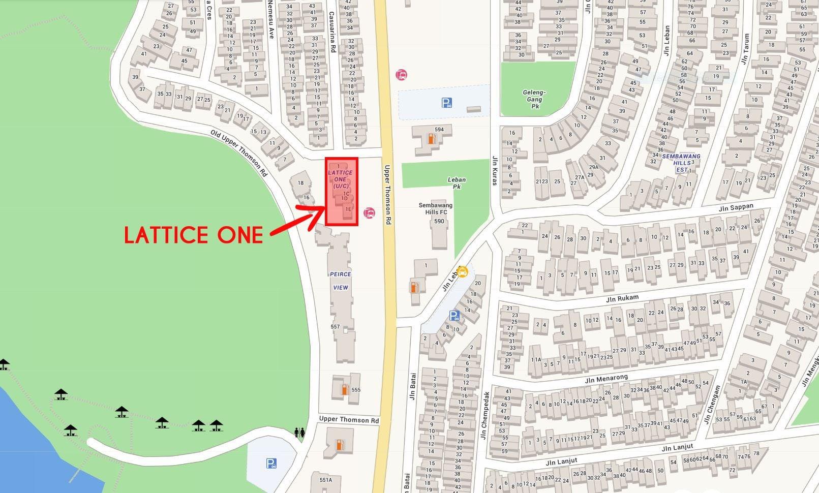 Lattice-One-location-map