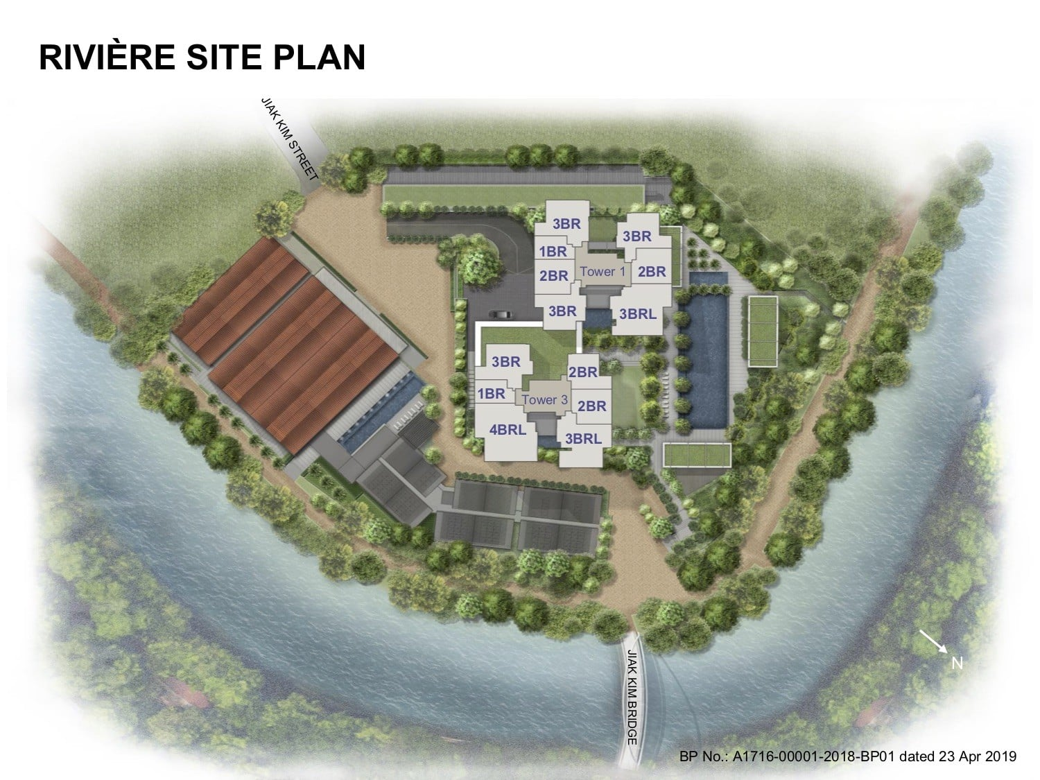 Riviere river valley Site Plan