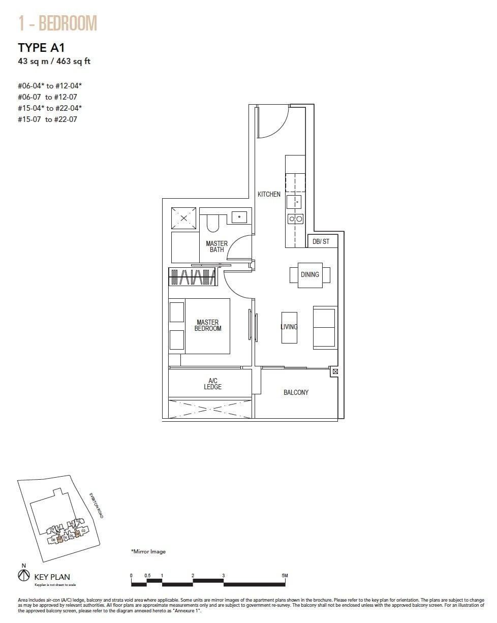 Sky-Everton-Floor Plan-1BR