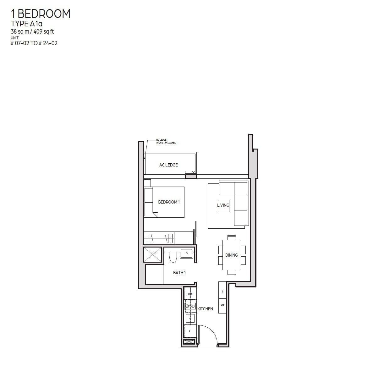 Guoco-Midtown-Bay-1BR 409sf