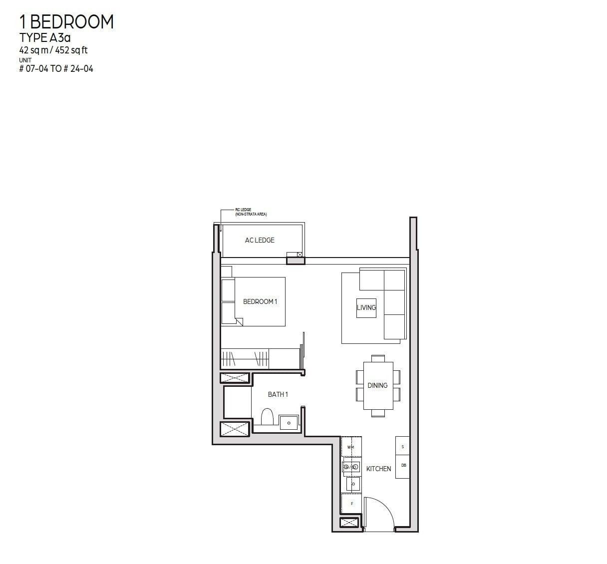 Guoco-Midtown-Bay-1BR 452sf