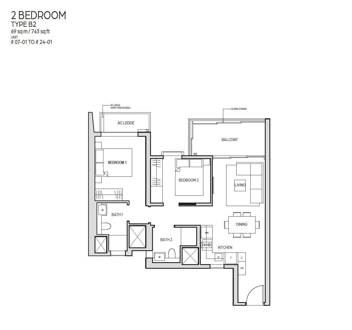 Guoco-Midtown-Bay-2BR 743sf