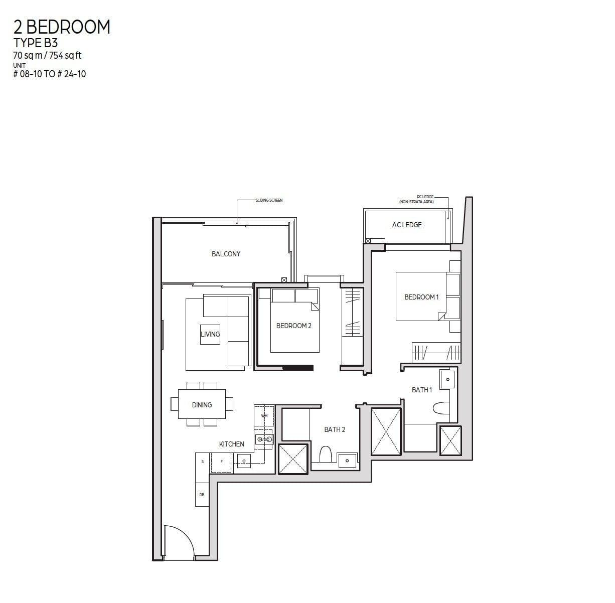 Guoco-Midtown-Bay-2BR 754sf