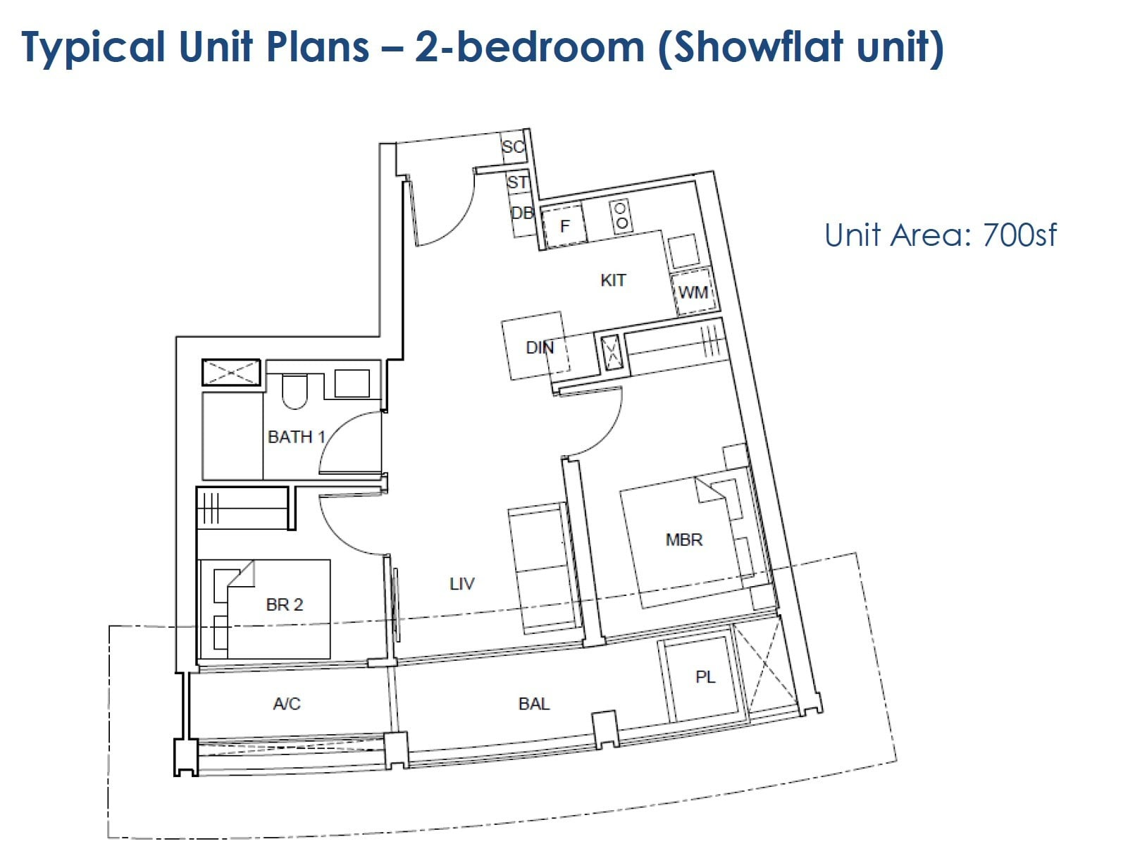 One-Pearl-Bank-floor Plan - 2BR