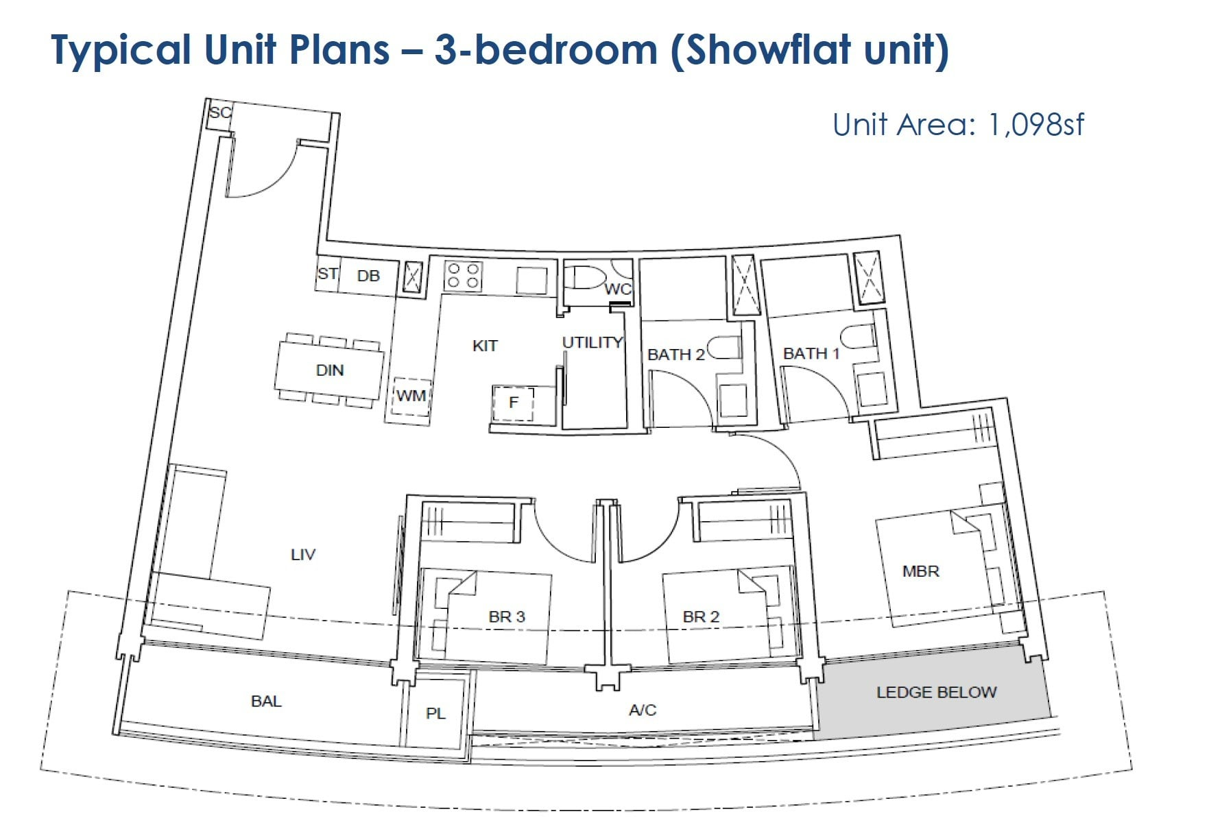 One-Pearl-Bank-floor Plan - 3BR