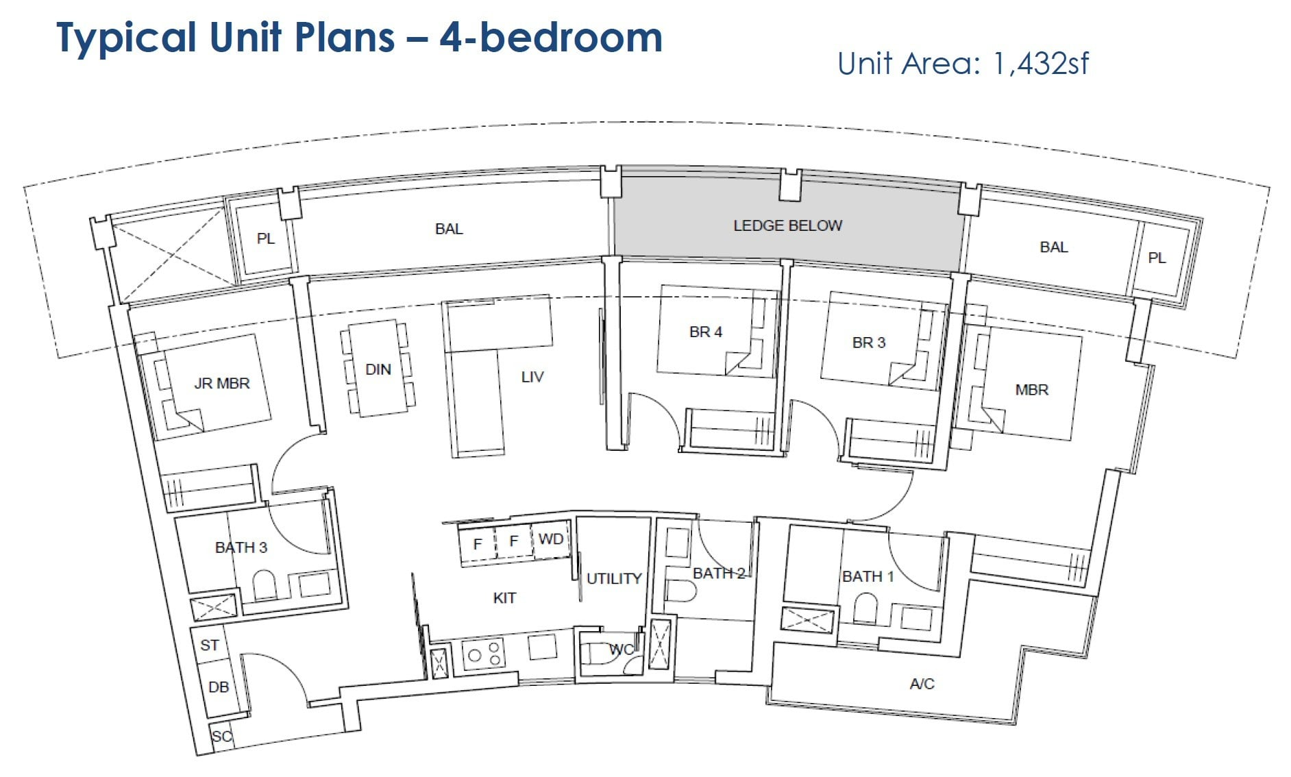 One-Pearl-Bank-floor Plan - 4BR