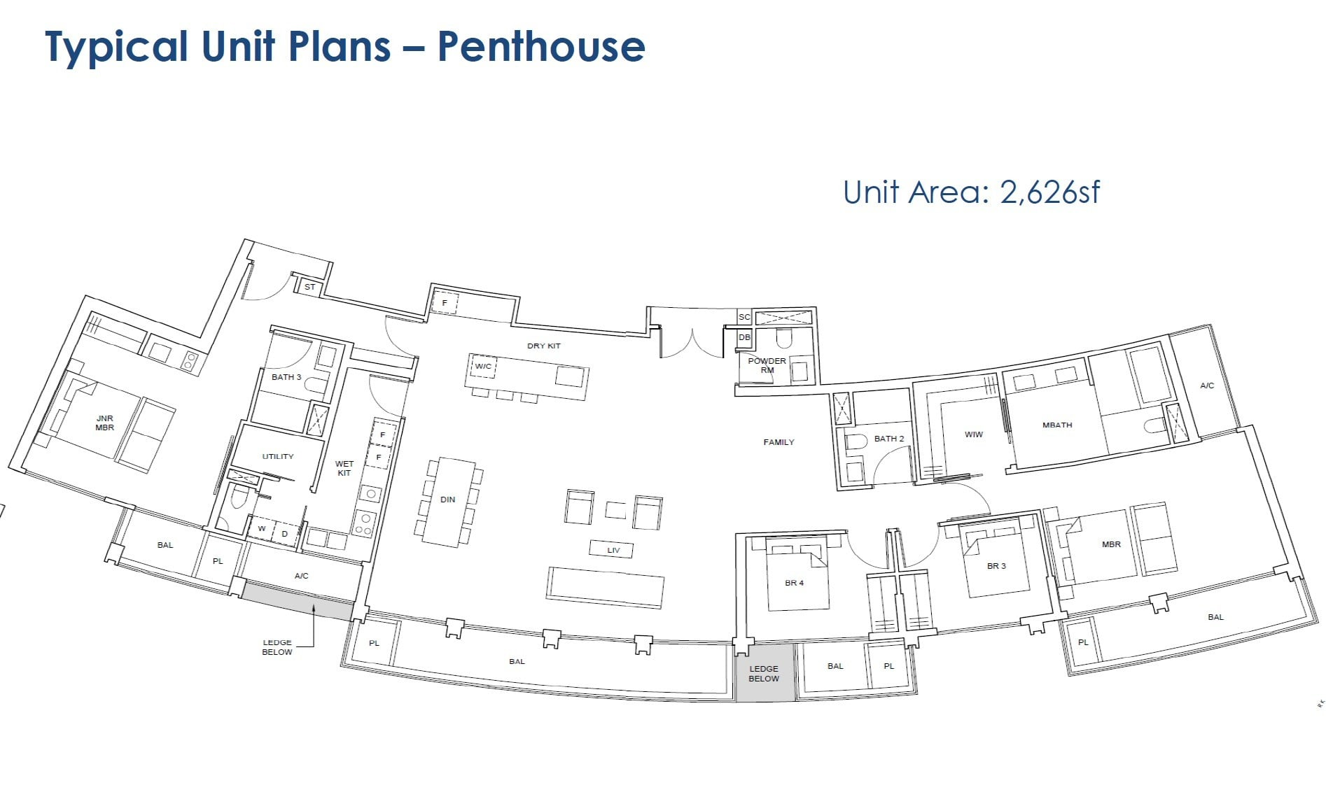 One-Pearl-Bank-floor Plan - Penthouse