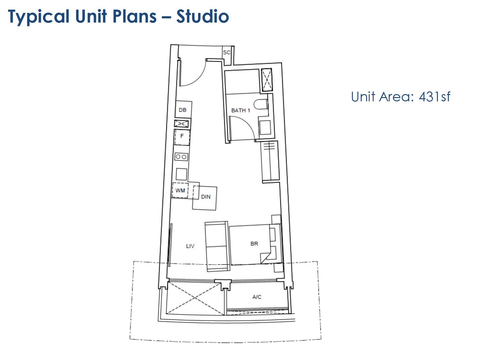 One-Pearl-Bank-floor Plan - studio