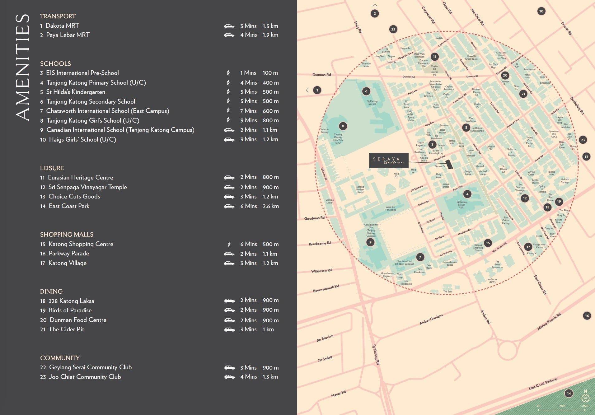 Seraya-Residences-Location Map