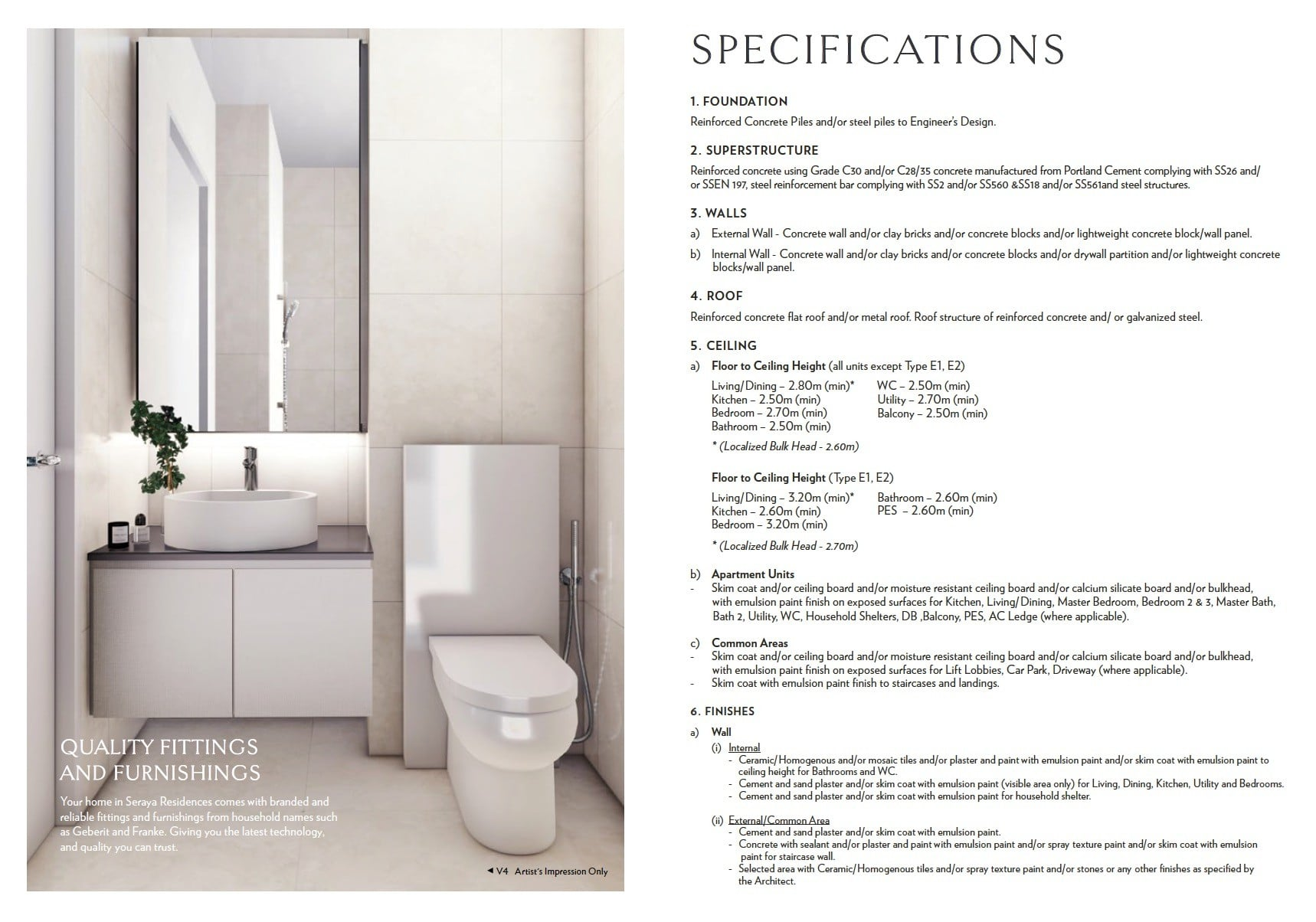 Seraya-Residences- Specification