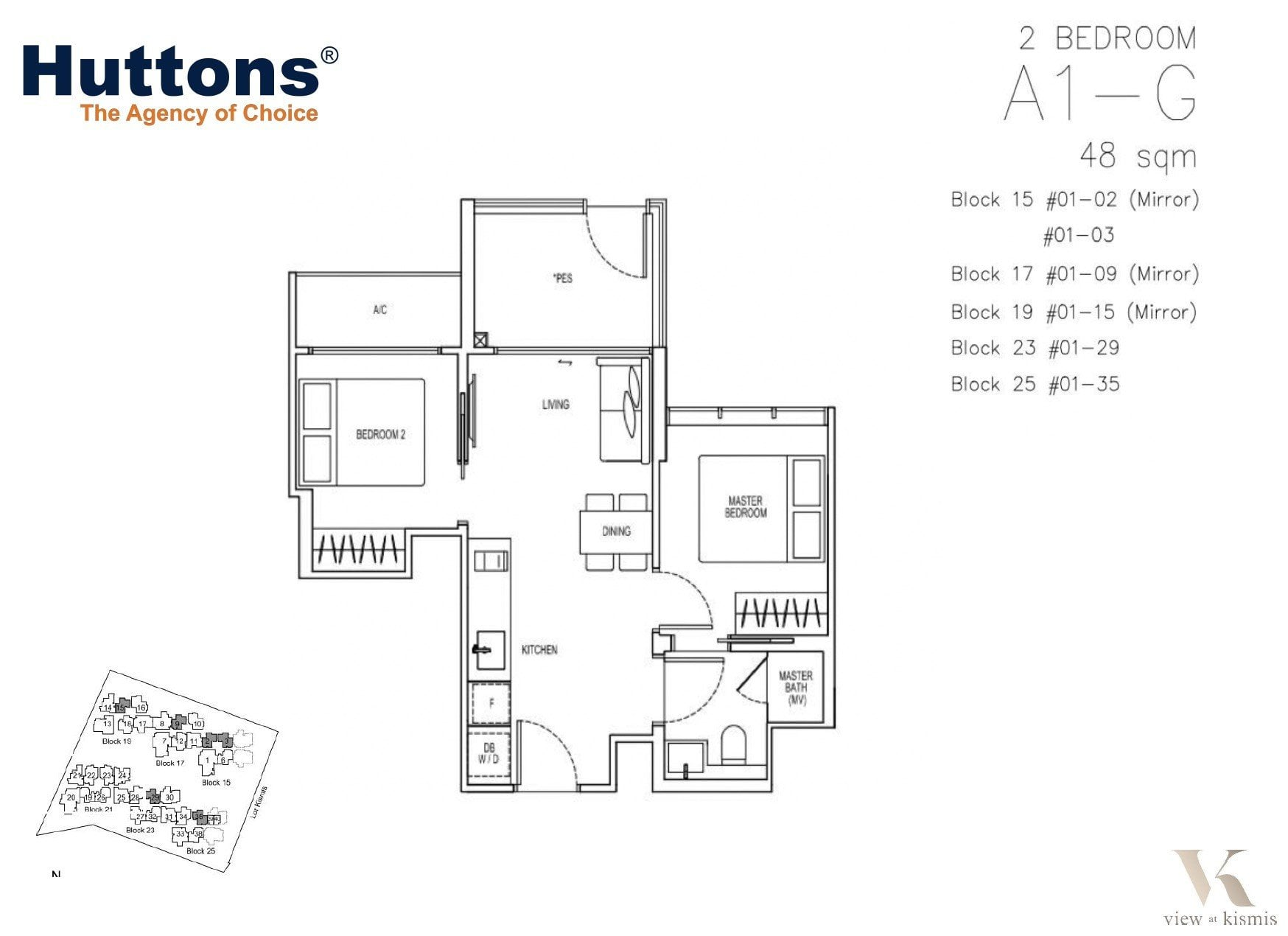 kismis-view-floorplan-2BR-48sqm
