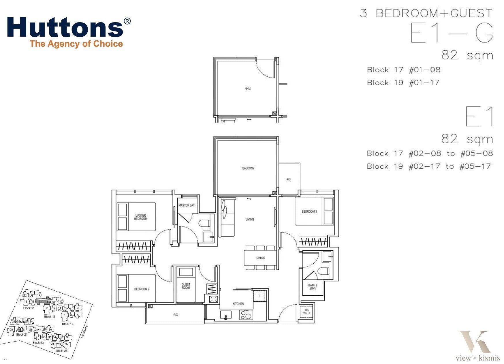kismis-view-floorplan-3BR+Guest