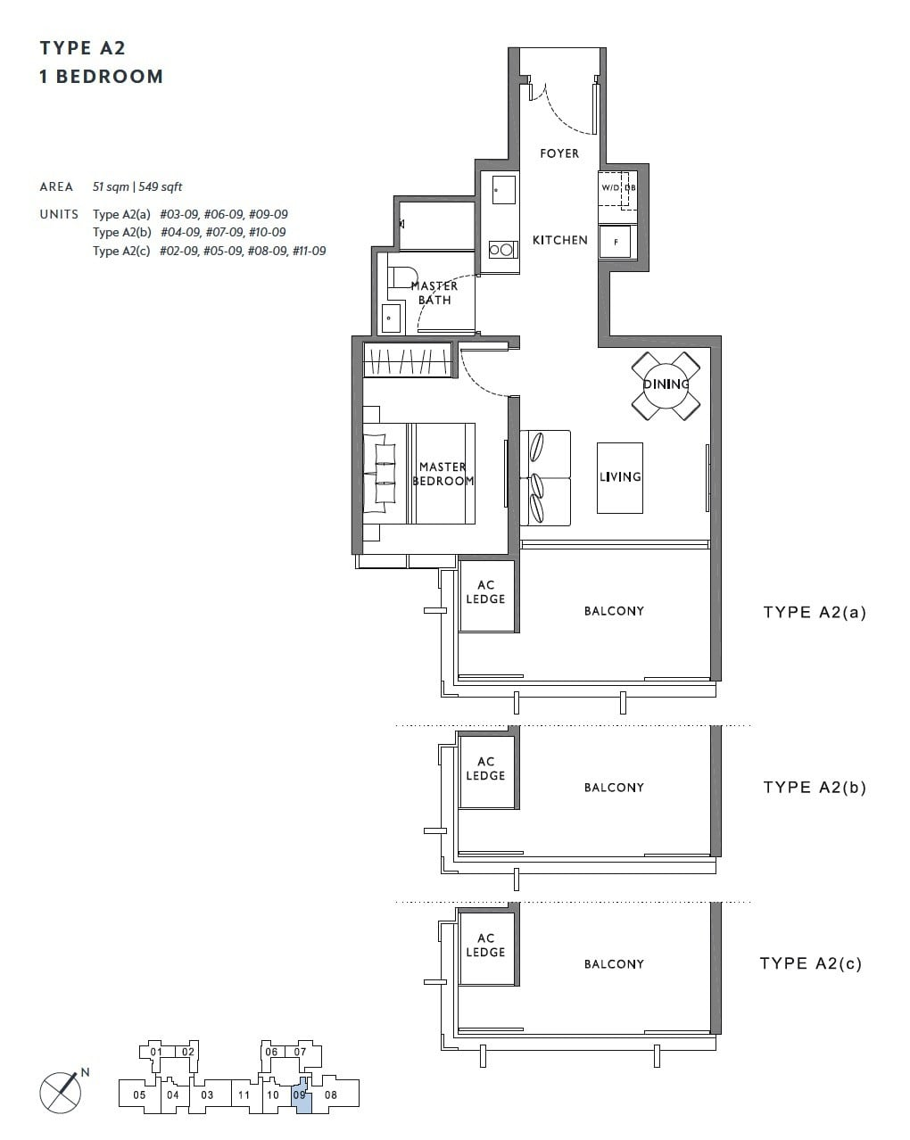 the-hyde-balmoral-floor plan-1BR A2