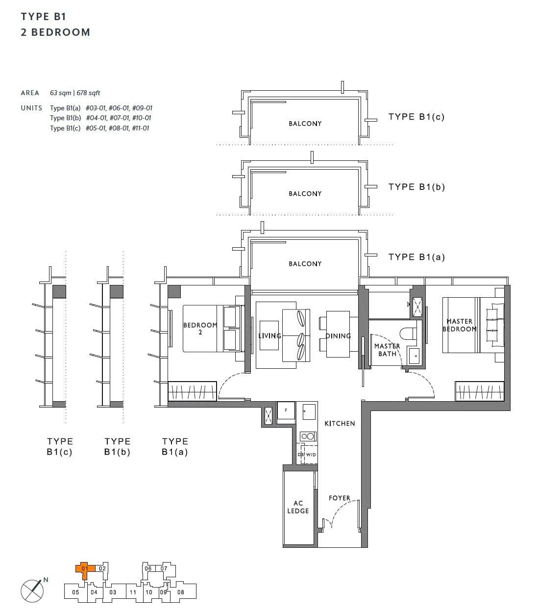 the-hyde-balmoral-floor plan-2BR B1