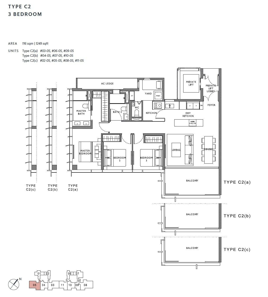 the-hyde-balmoral-floor plan-3BR C2