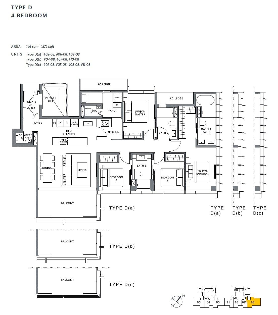 the-hyde-balmoral-floor plan-4BR D1