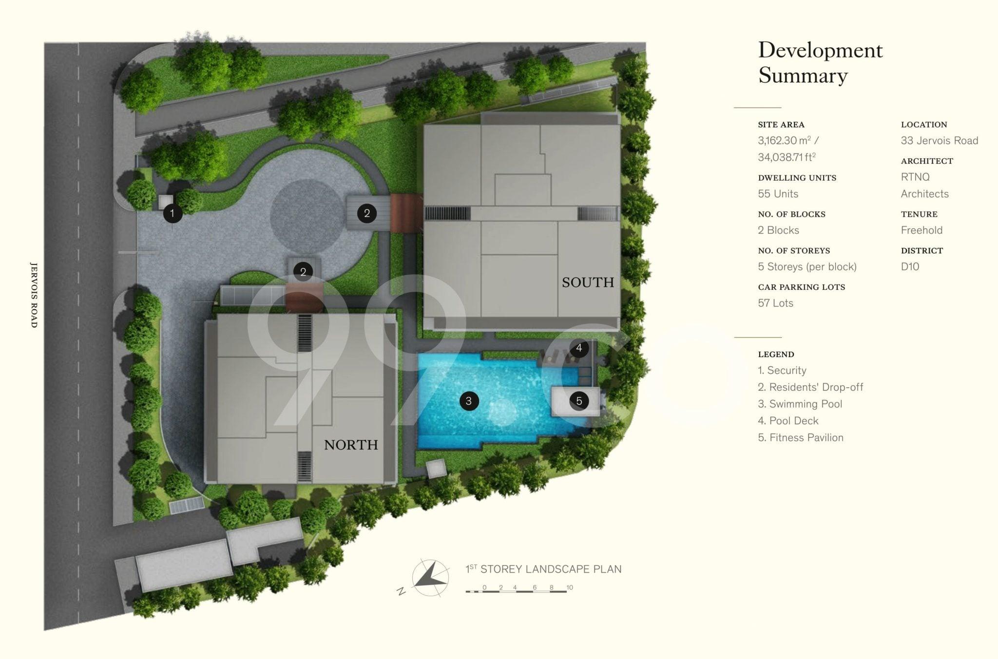 Petit-Jervois-Condo-Site Plan
