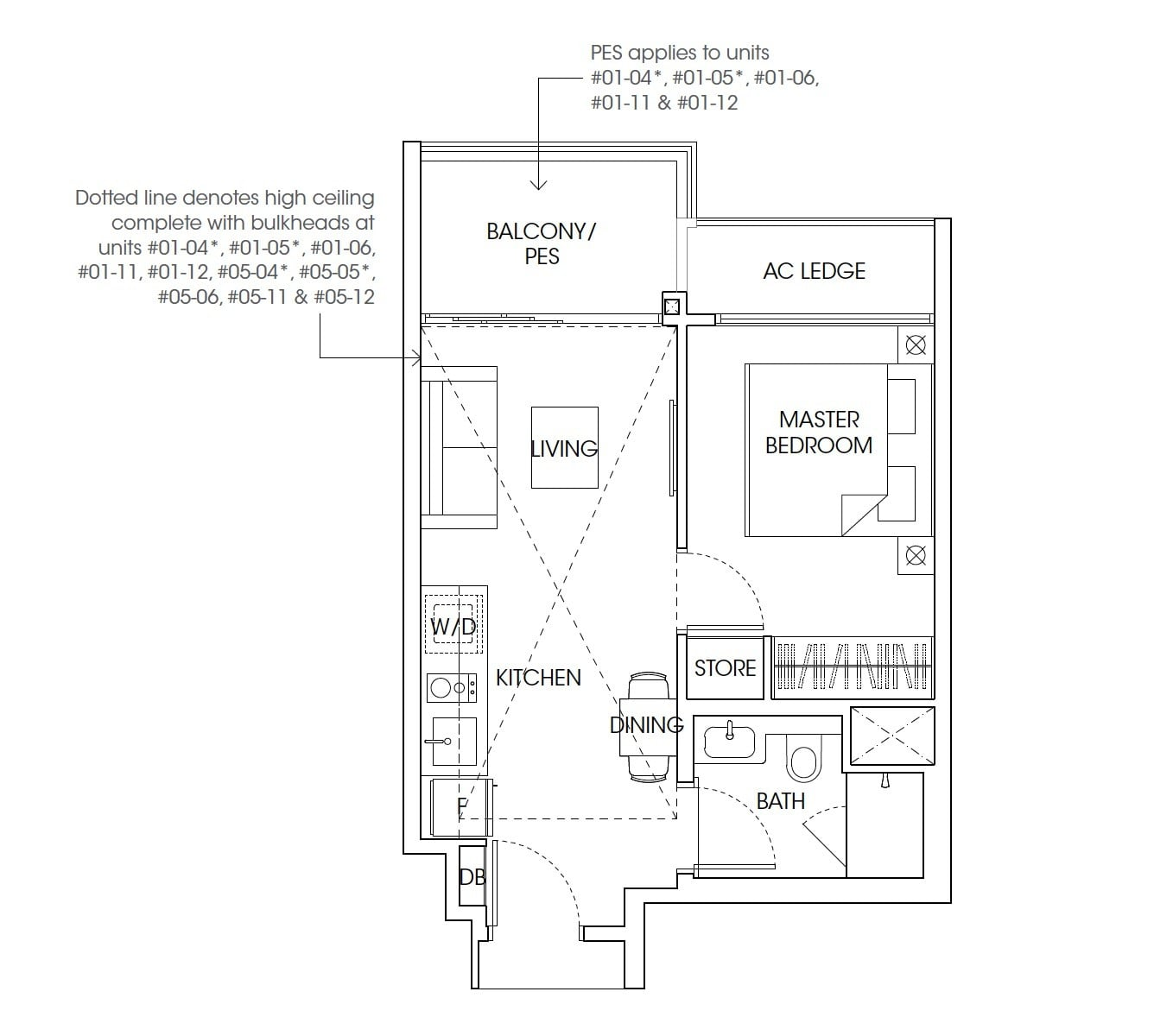 The-Antares-floor plan 1Bedroom
