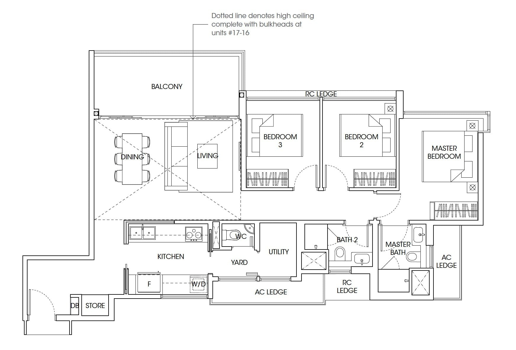 The-Antares-floor plan 3Bedroom