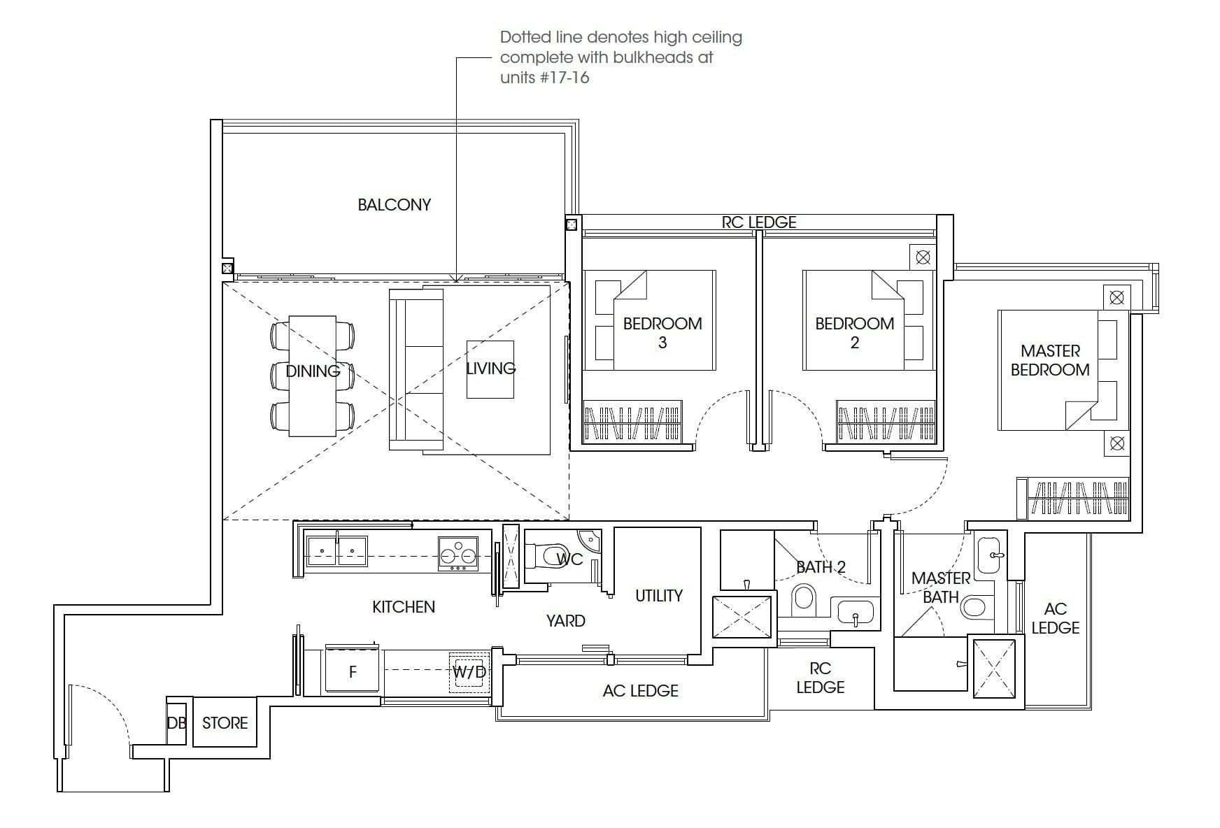The-Antares-floor plan 3Bedroom