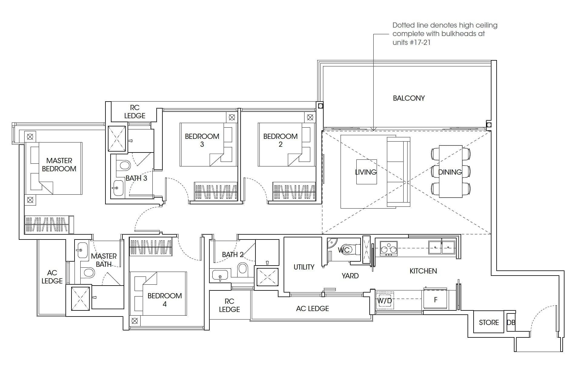 The-Antares-floor plan 4Bedroom