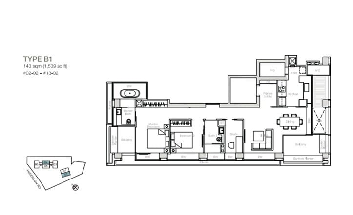 nouvel-18-floorplan 2BR+S B1