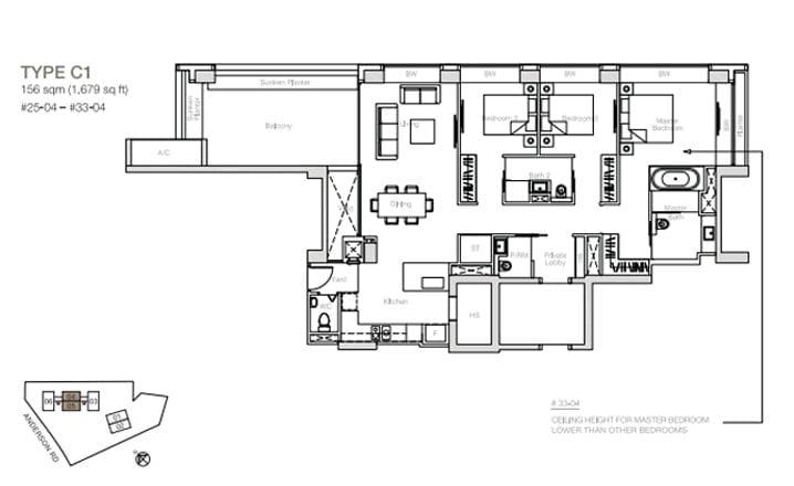 nouvel-18-floorplan 3BR C1