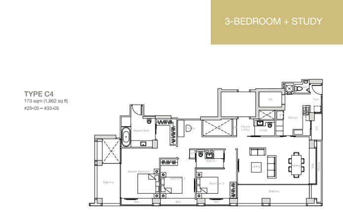 nouvel-18-floorplan 3BR+S C4