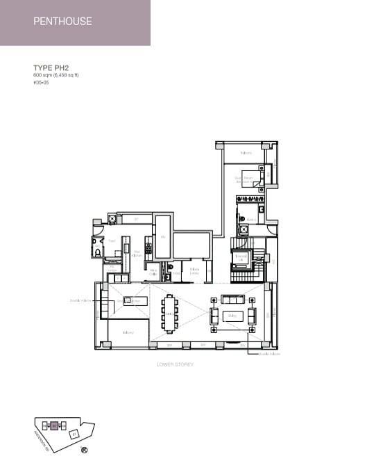 nouvel-18-floorplan Penthouse 2