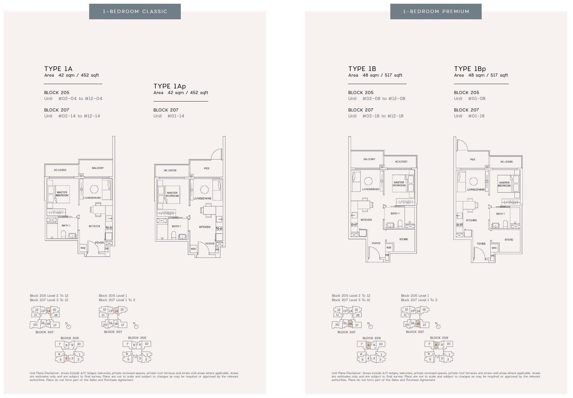 urban treasures floor plan 1BR
