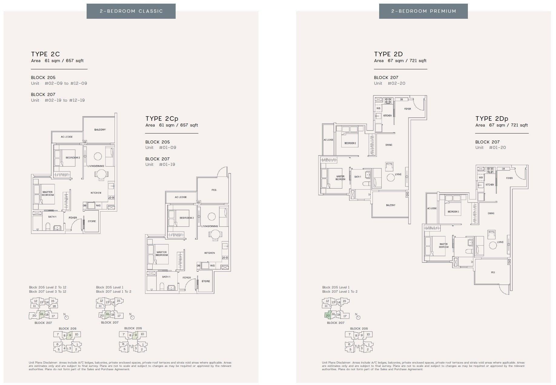 urban treasures floor plan 2BR 2