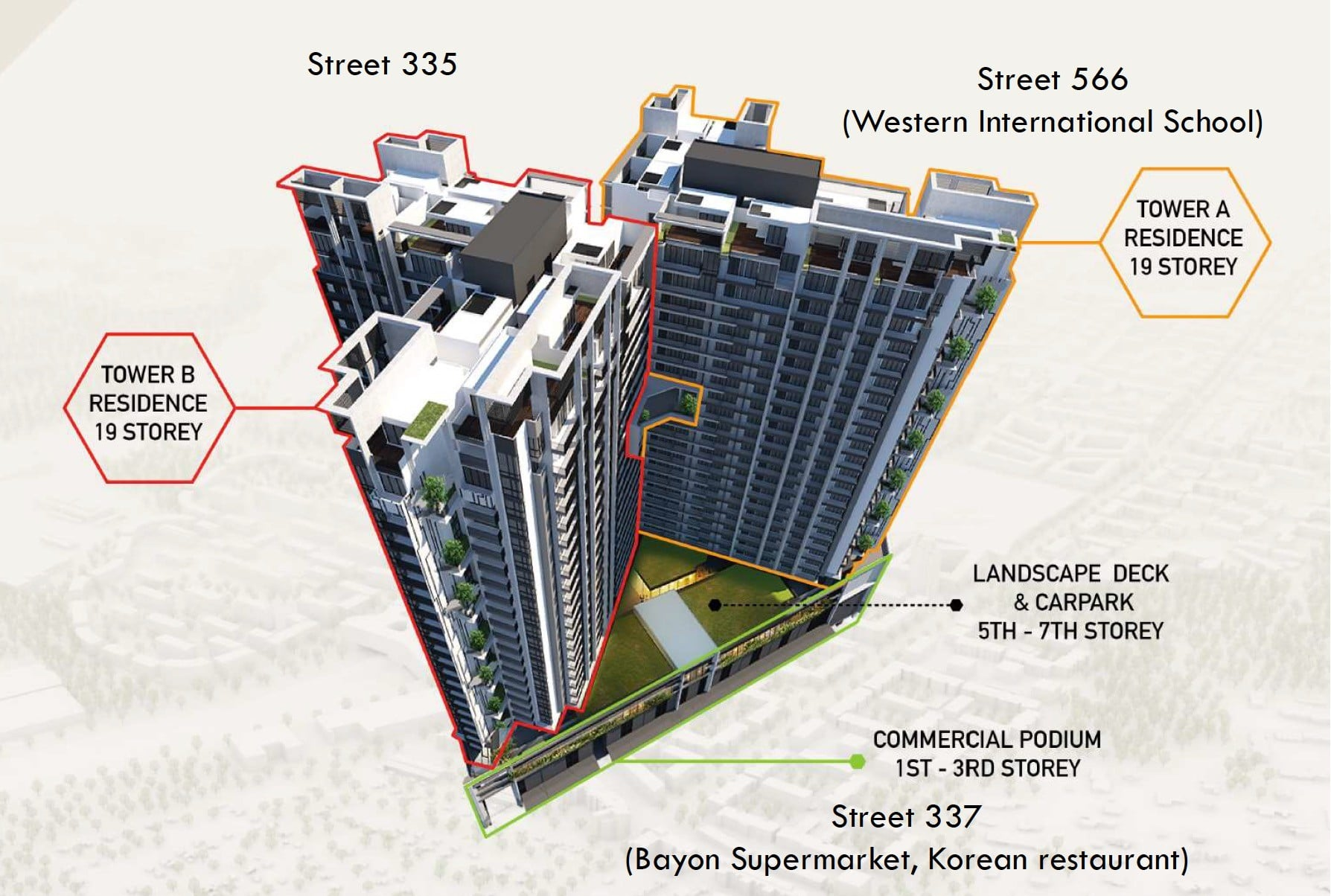 Royal Platinum Building Layout