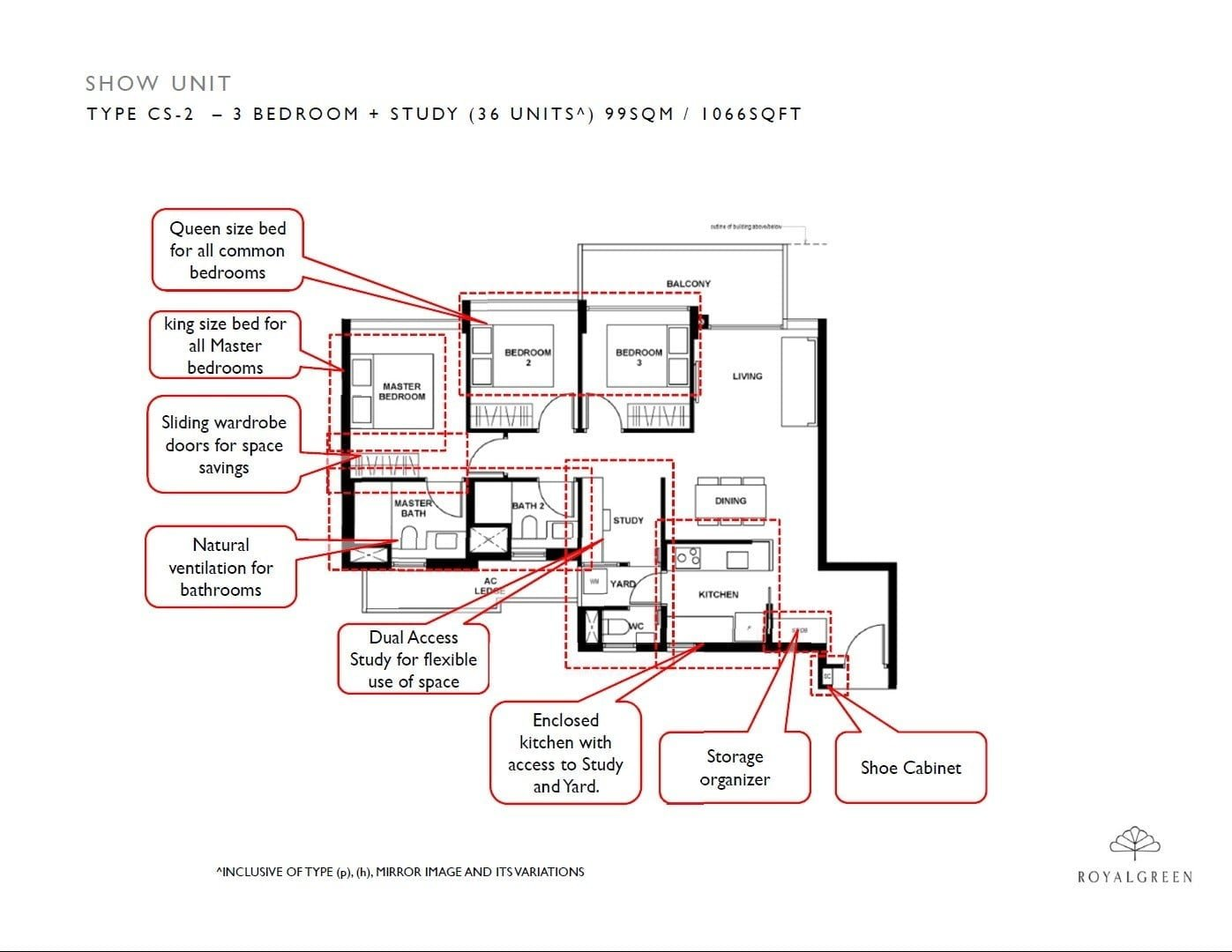 3-Bedroom-Study-show-unit-Type-CS-2-1066-sqft
