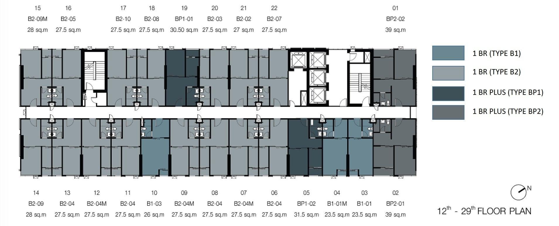 Knightsbridge-sukhumvit-thepharak-Floor Plate 12-29th