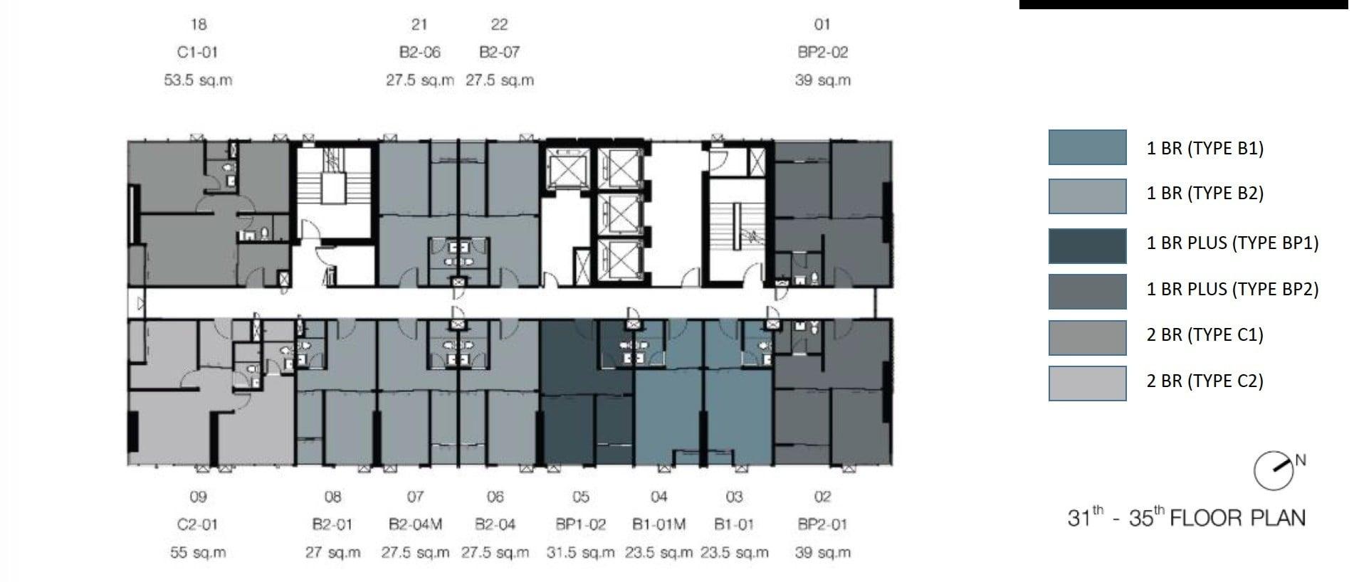 Knightsbridge-sukhumvit-thepharak-Floor Plate 31-35th